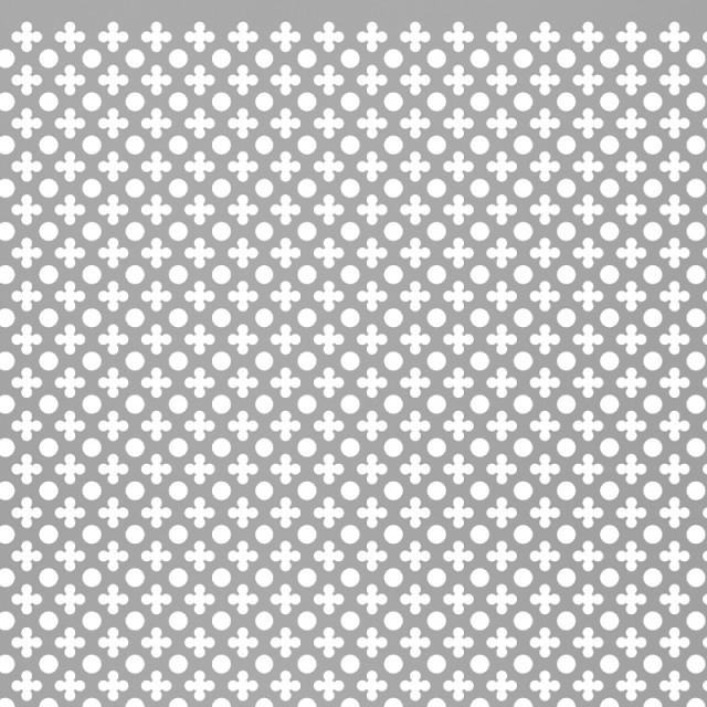 ALUMINIUM SHEET / CROSS MOTIF / 1x2m